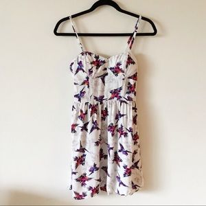 Lily Rose Sleeveless Bird Print Dress
